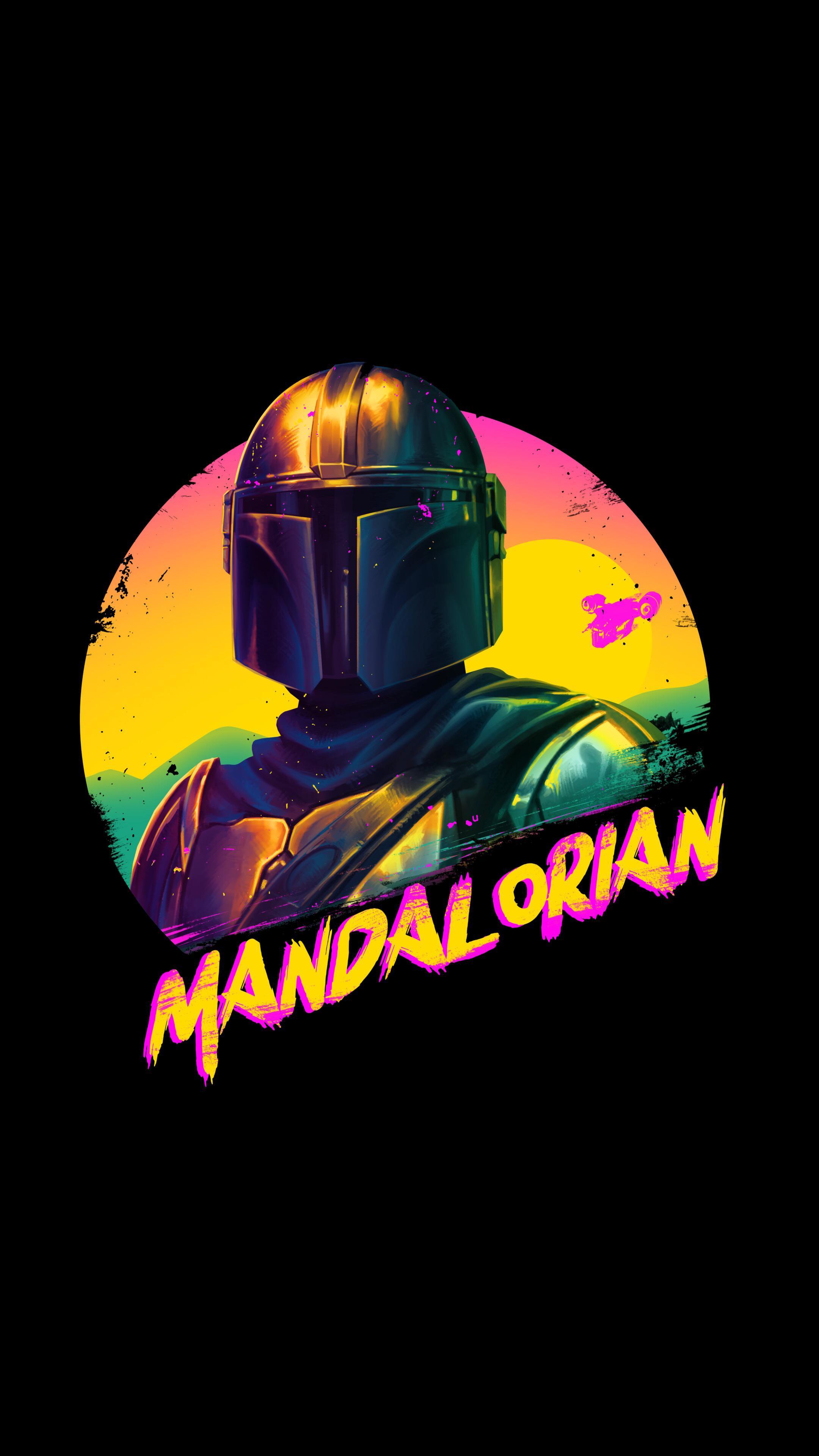 The Mandalorian wallpaper OLED iPhone idownloadblog 90s retro mando