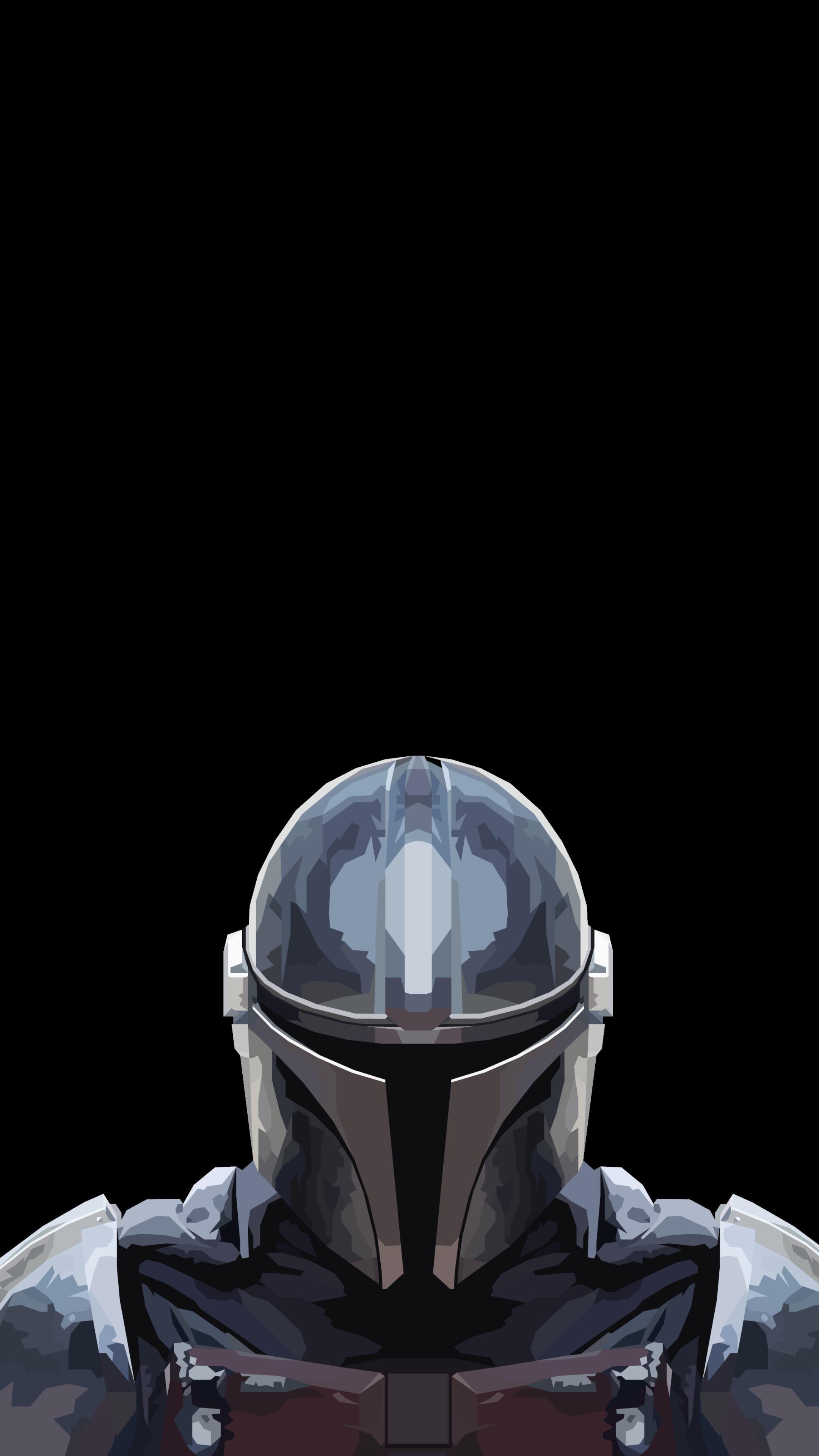 The Mandalorian wallpaper OLED iPhone idownloadblog mando bust