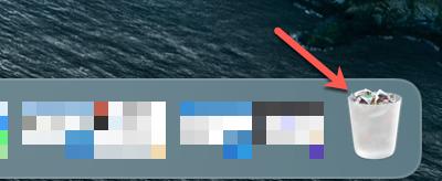 Trash in Dock on Mac