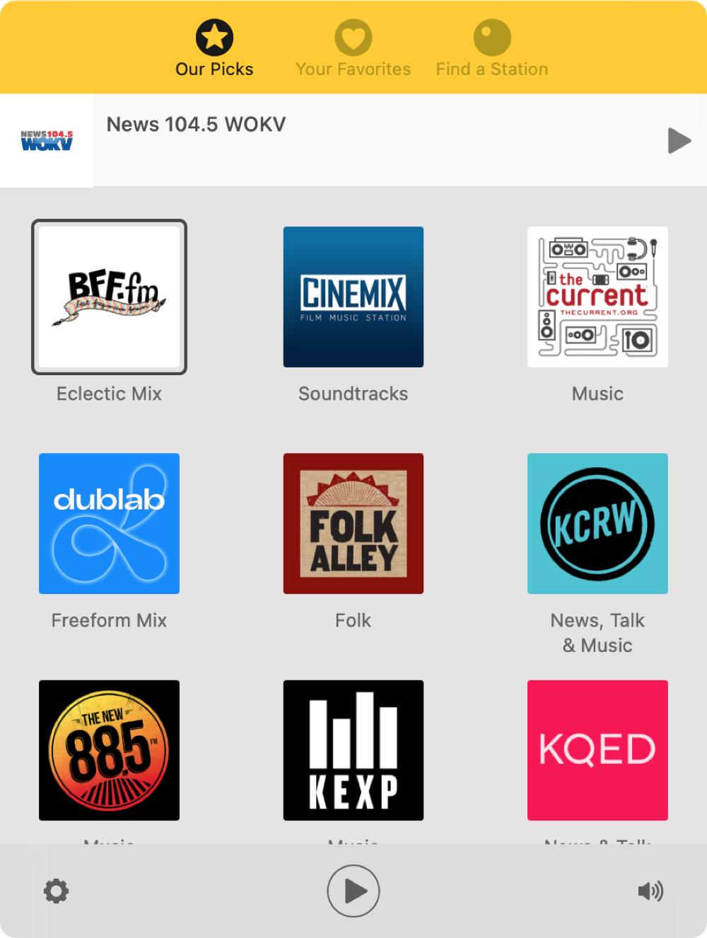 Triode Radio App on Mac