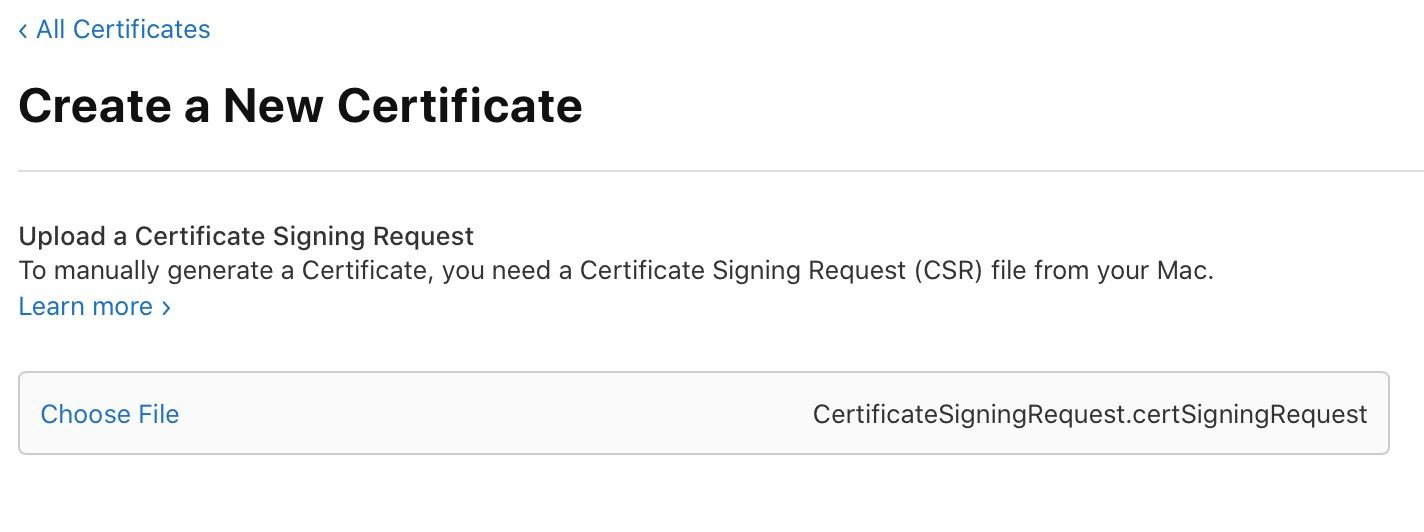 Upload a Certificate Signing Request