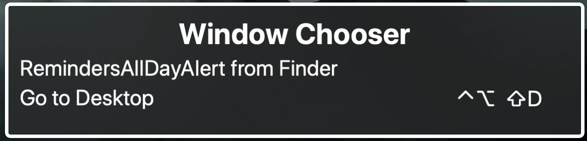 Window Chooser for VoiceOver