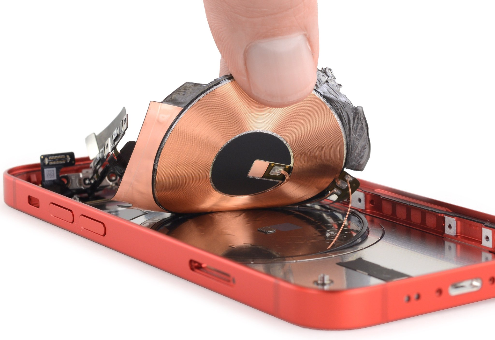 An image showing an iPhone 12 mini being torn apart