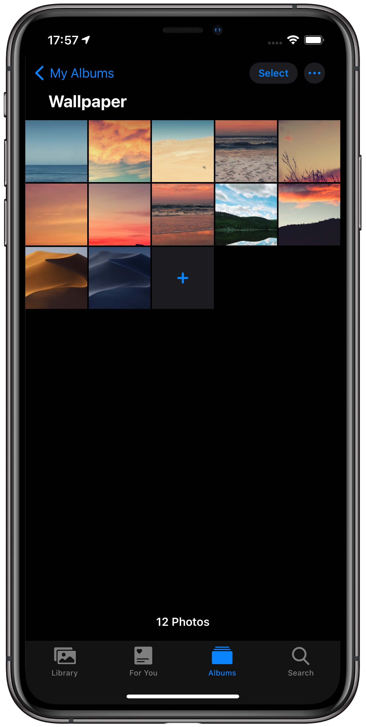 change iPhone wallpaper automatically - Photos app with Wallpaper album