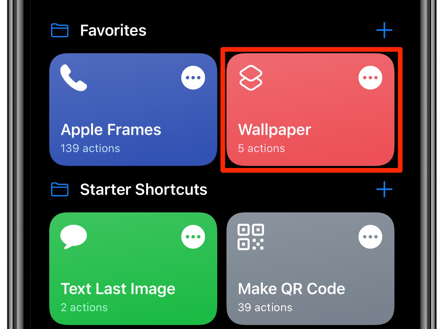 change iPhone wallpaper automatically - the Wallpaper script in the Shortcuts app