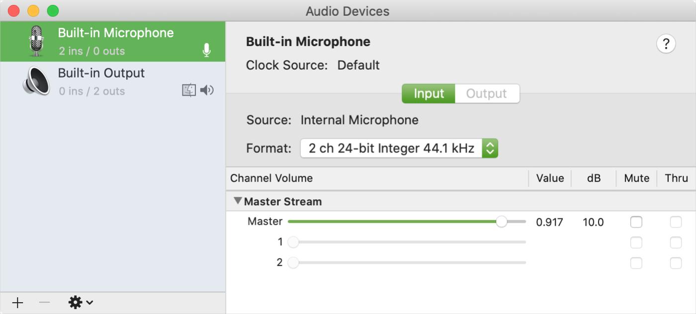 macOS Audio MIDI Setup
