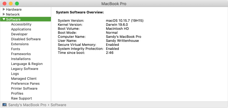 macOS System Information