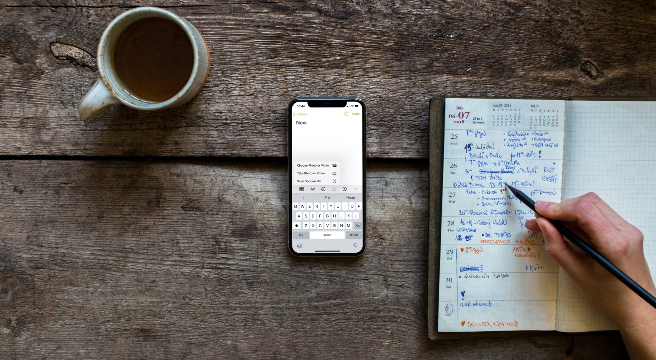 Fügen Sie Notizen auf dem iPhone Fotos oder Videos hinzu