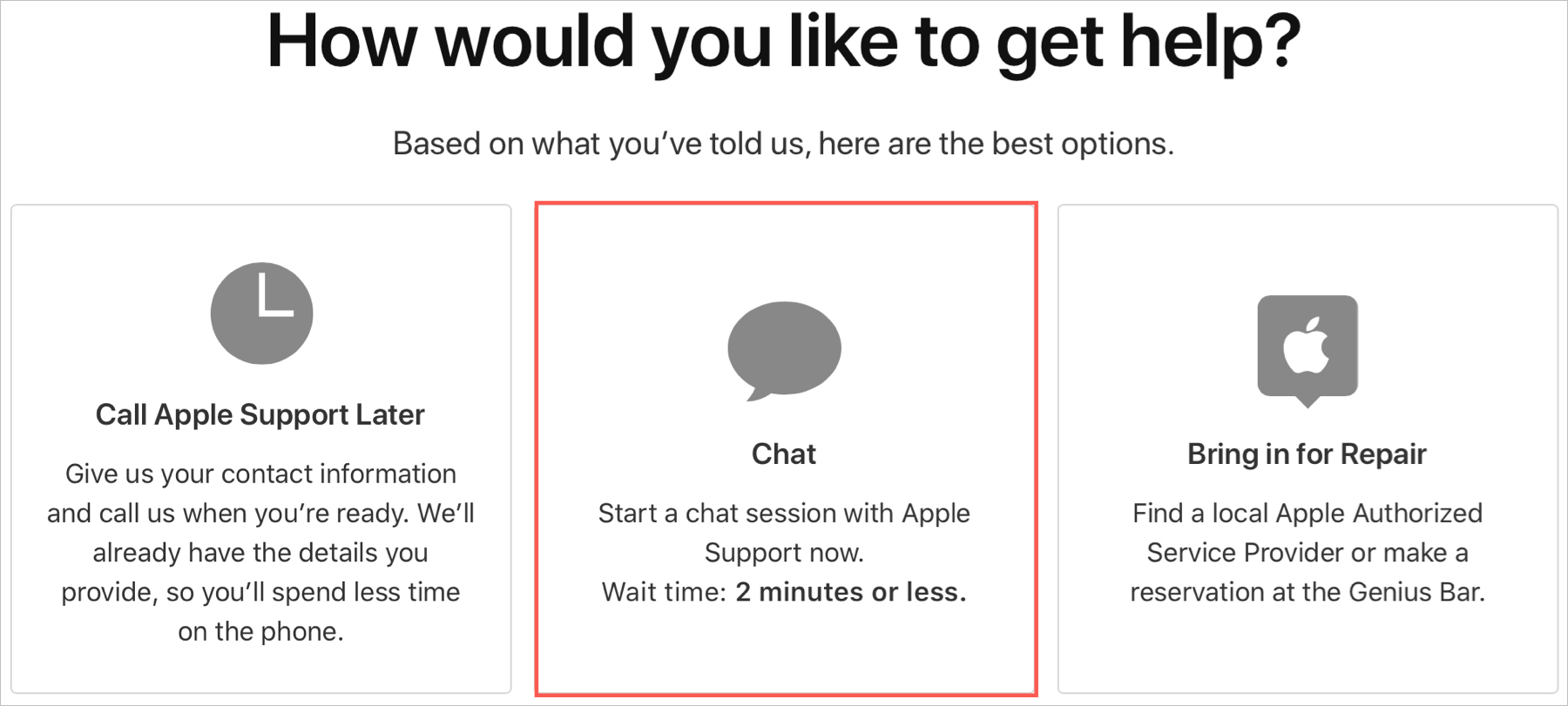 Apple Support Site Chat Now