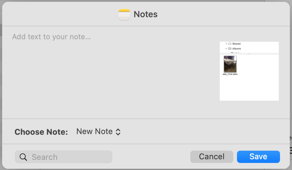 Attach File and Add a Note on Mac