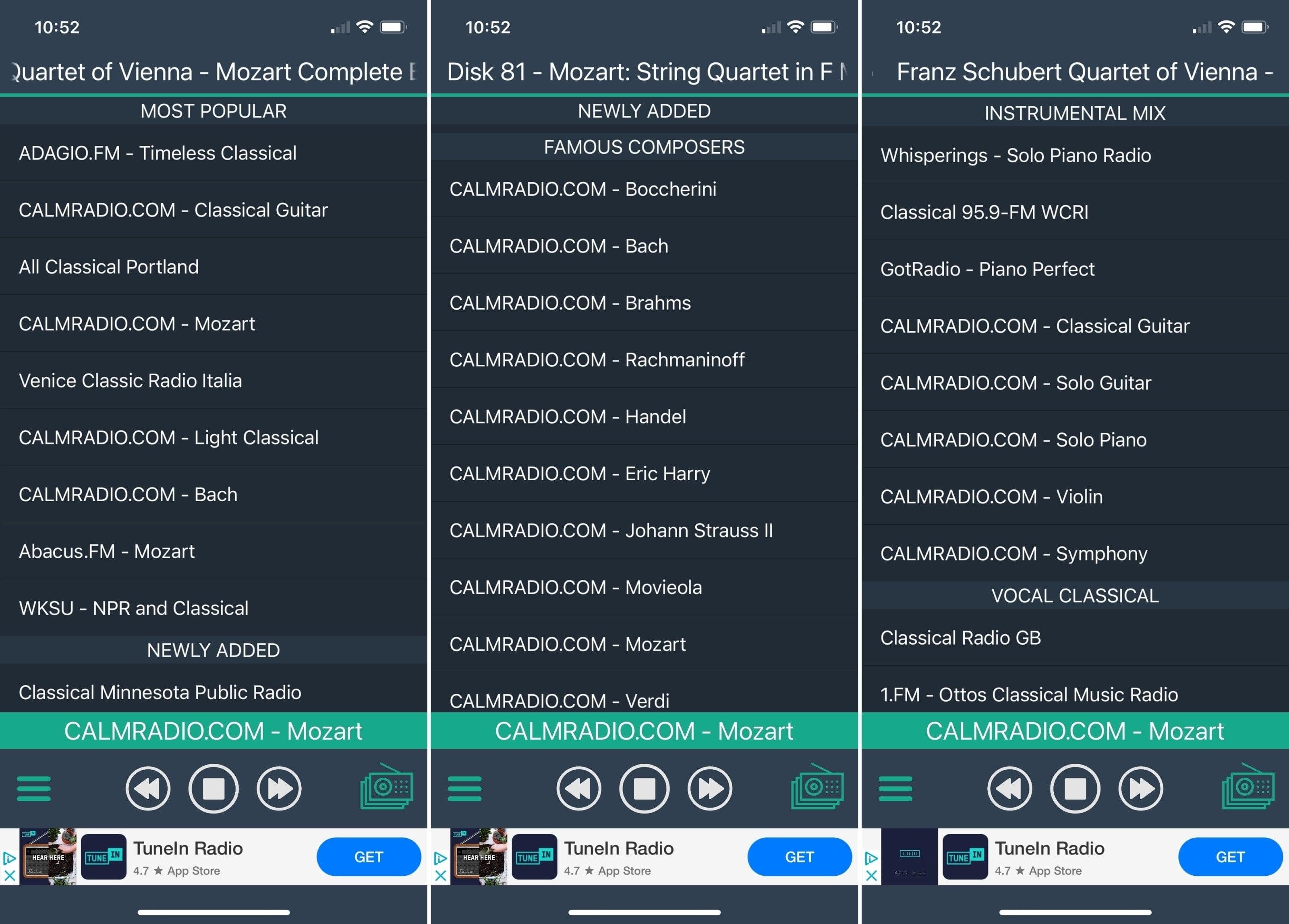 Classical Radio Plus app iPhone