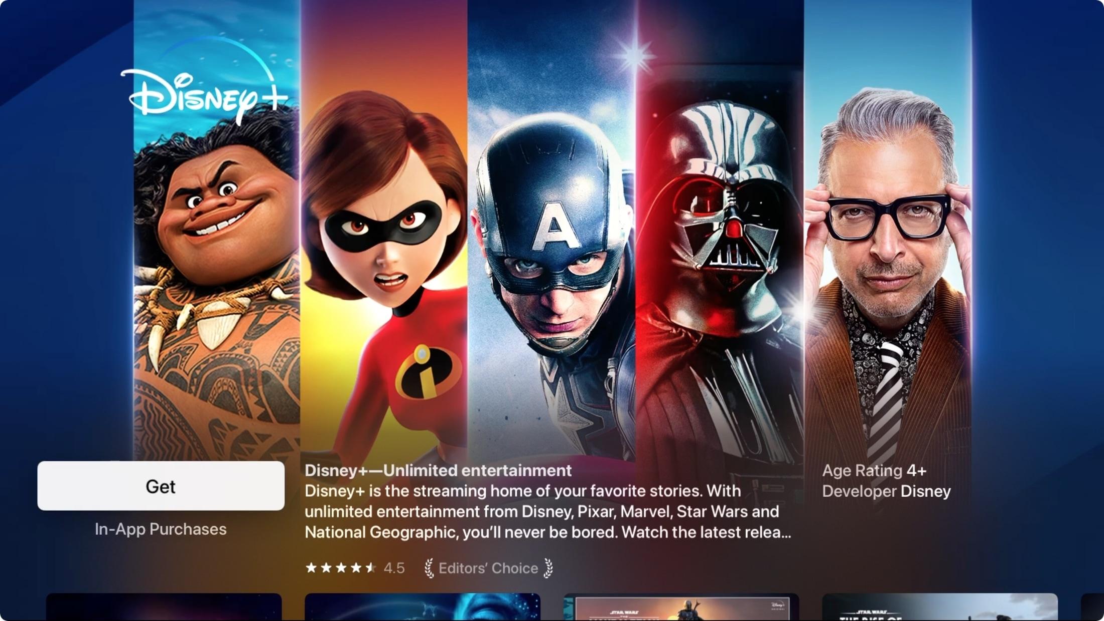 Disney Plus Apple TV App Store