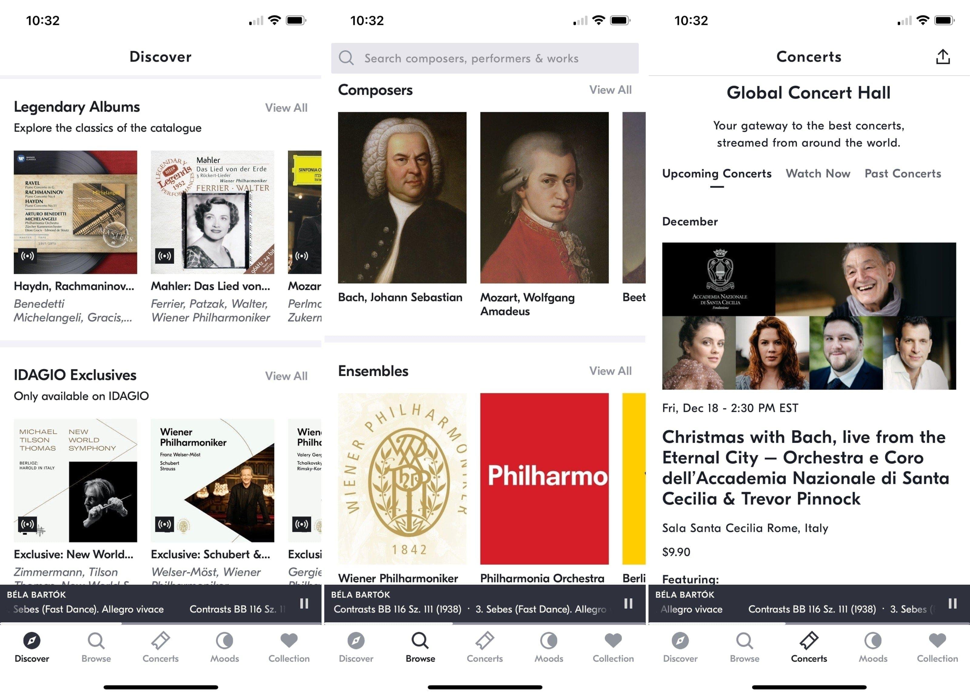 IDAGIO app on iPhone