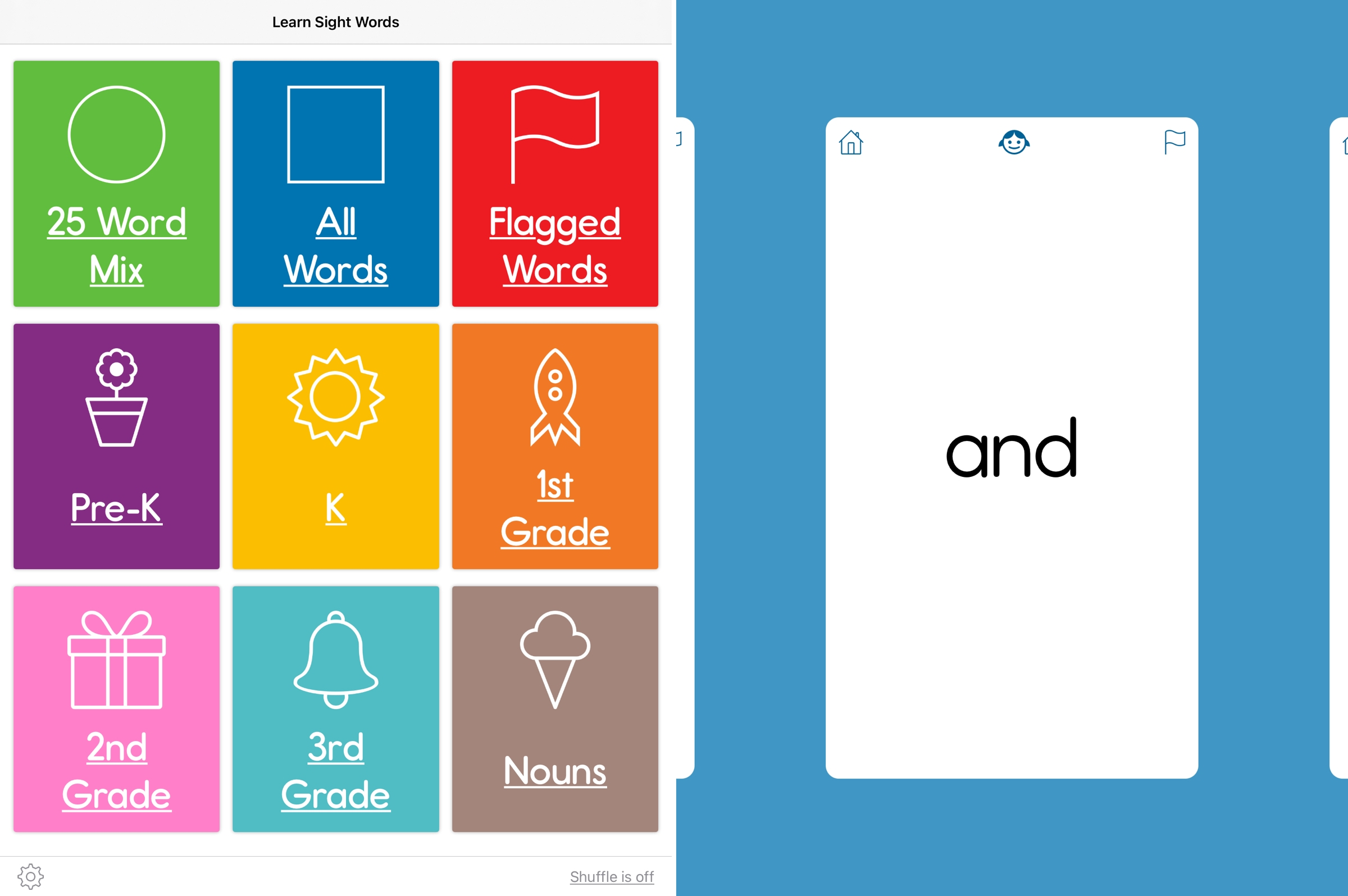 Learn Sight Words on iPad