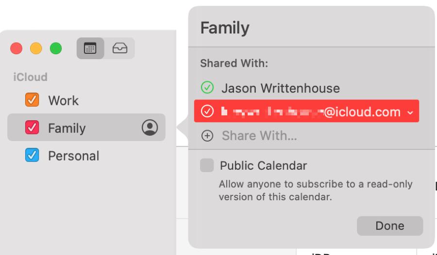 Mac Calendar Sharing