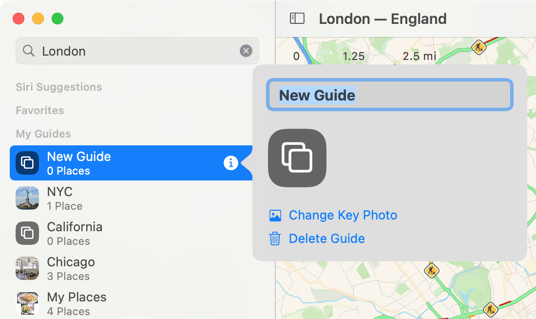 Maps Create New Guide