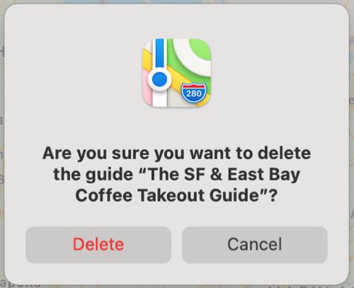 Maps Delete Guide