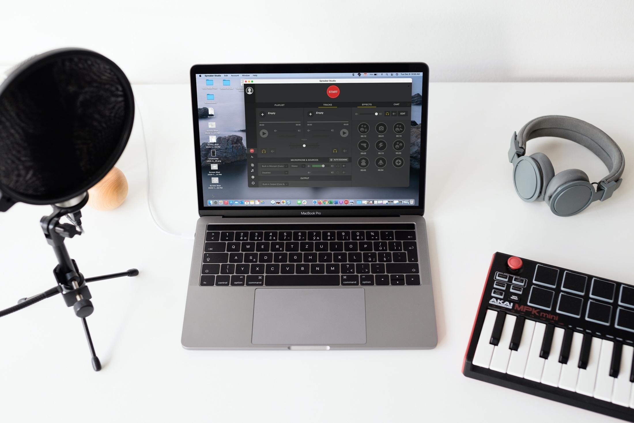 Podcast creator apps for Mac - Spreaker Studio