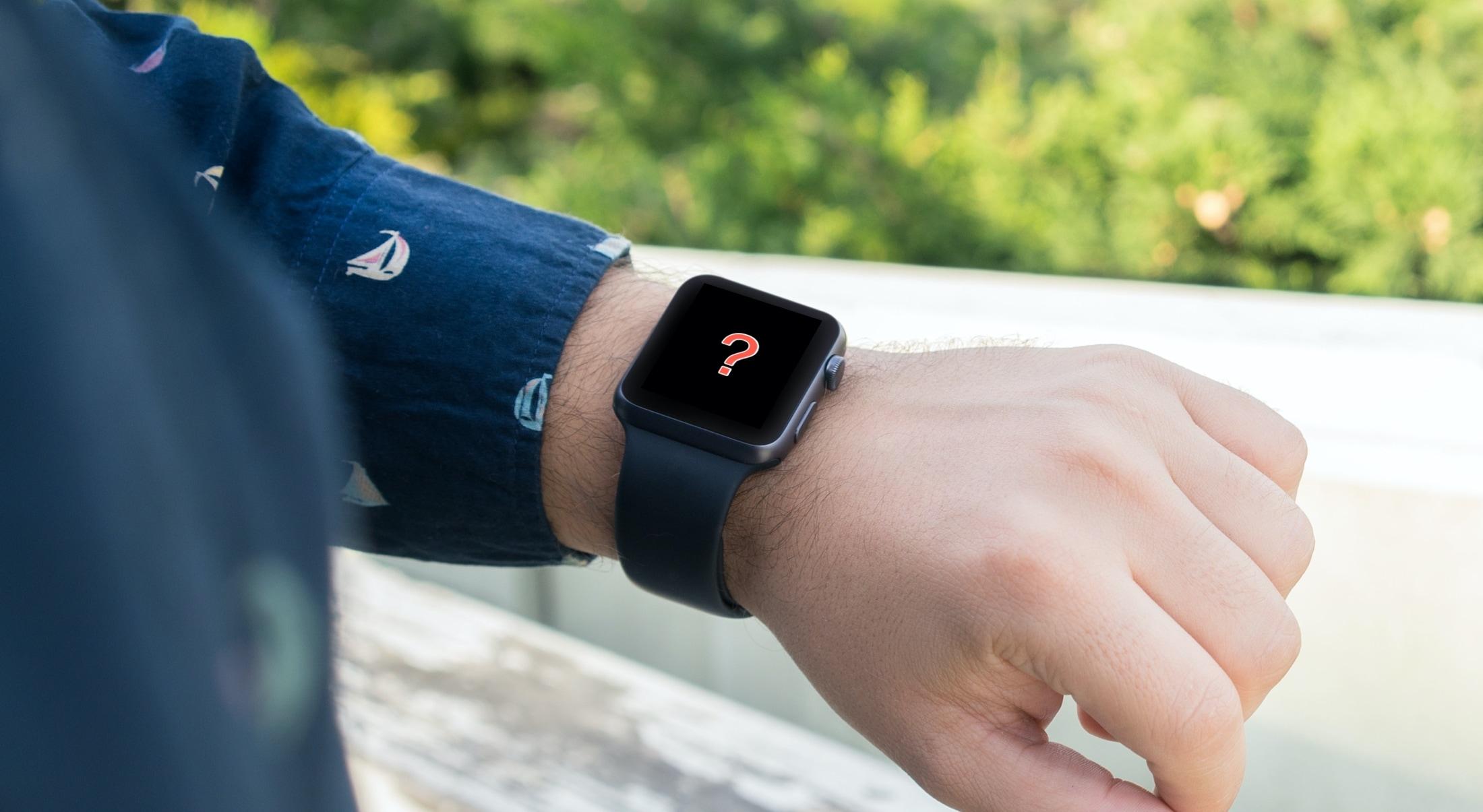 Question Mark on Apple Watch