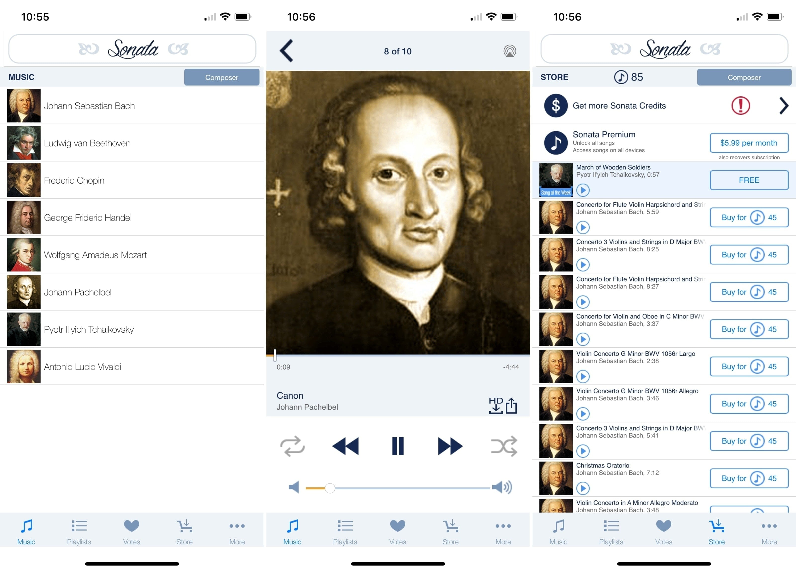 Sonata app on iPhone
