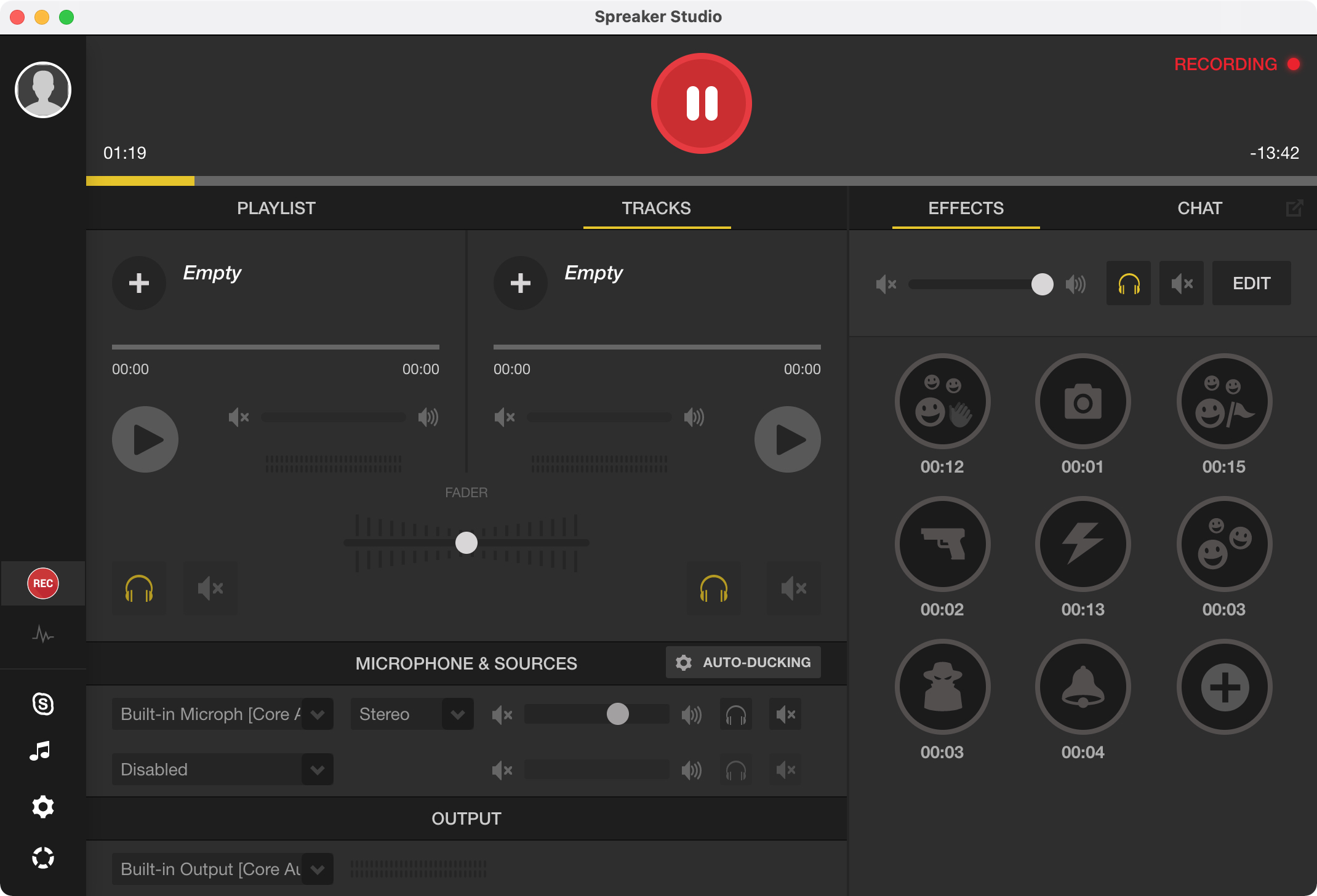 Spreaker Studio app on Mac