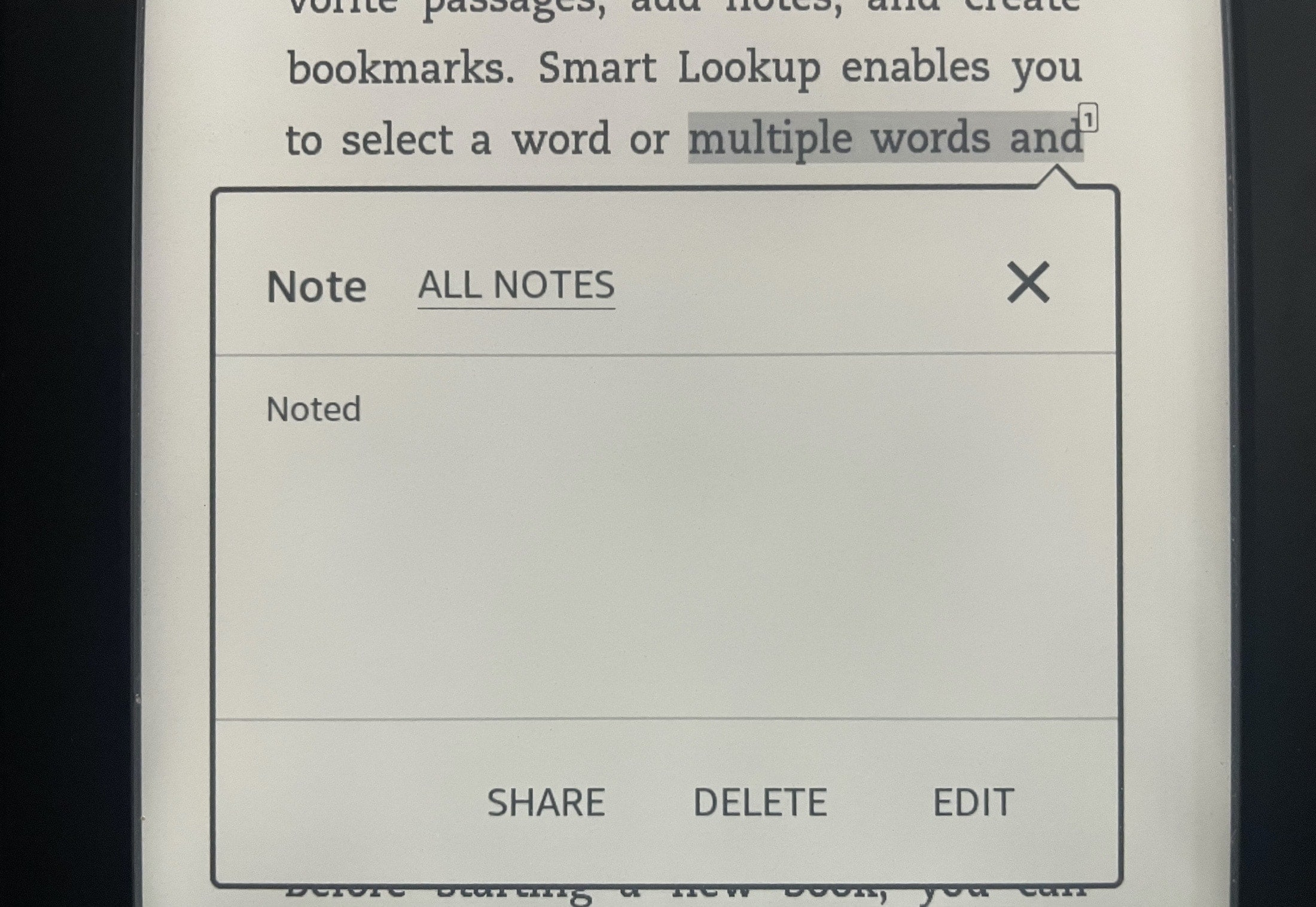 View Note on Kindle Paperwhite