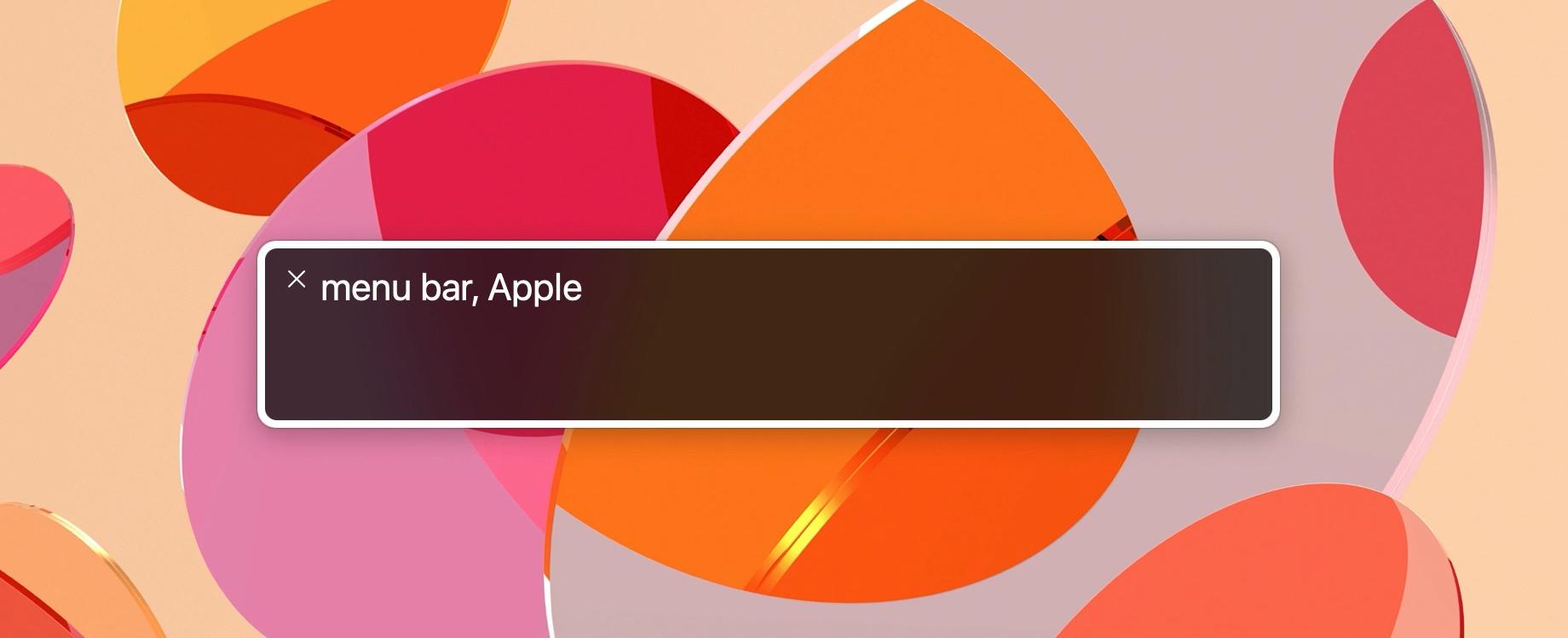 VoiceOver Mac menu bar