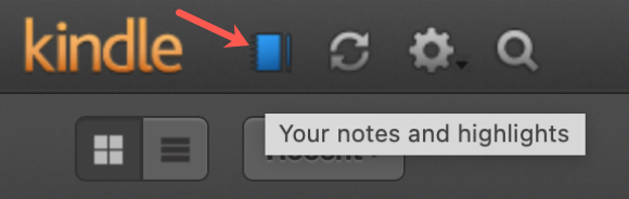 Your Notes and Highlights Button Online