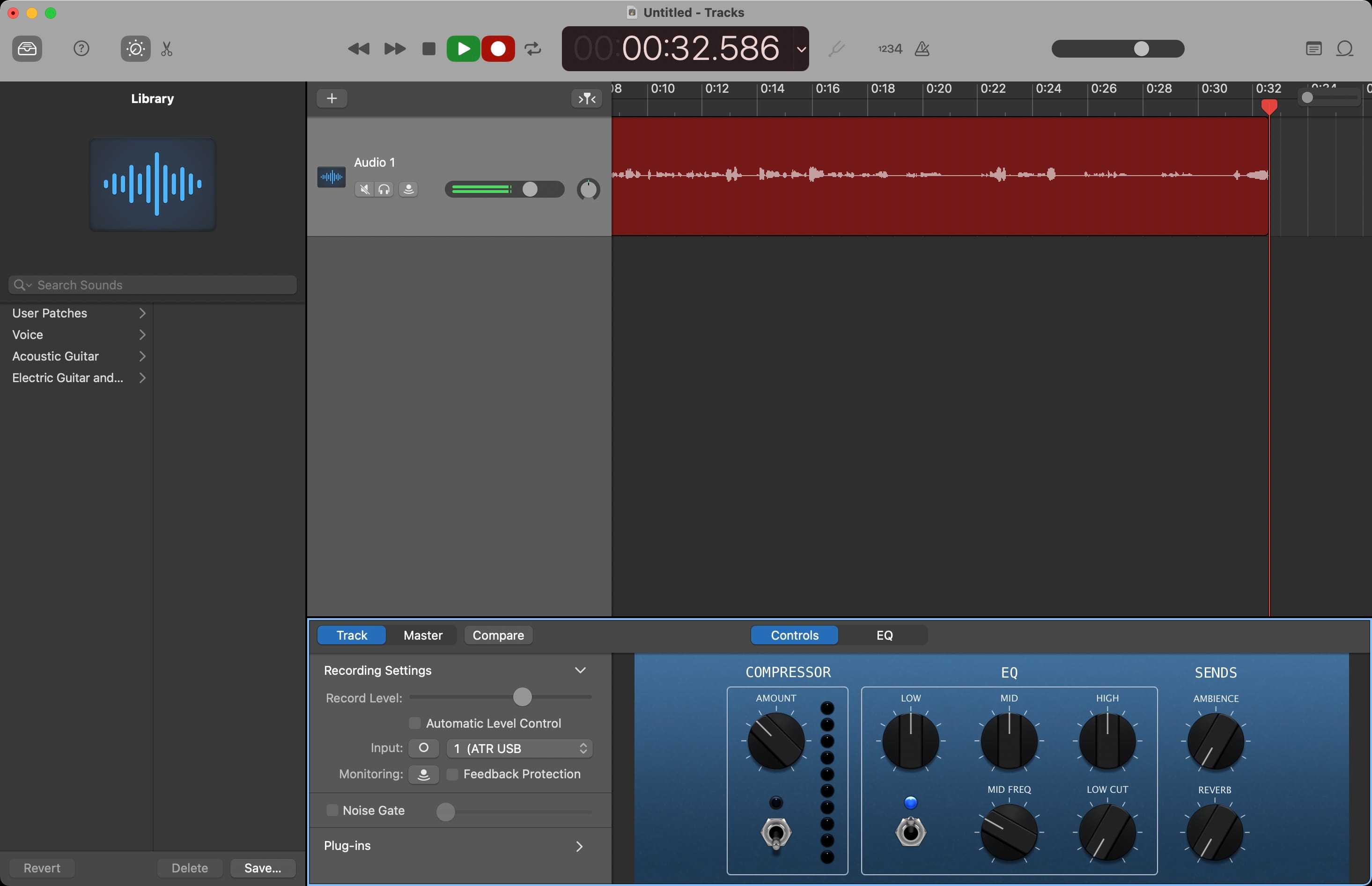 GarageBand for Podcasts on Mac