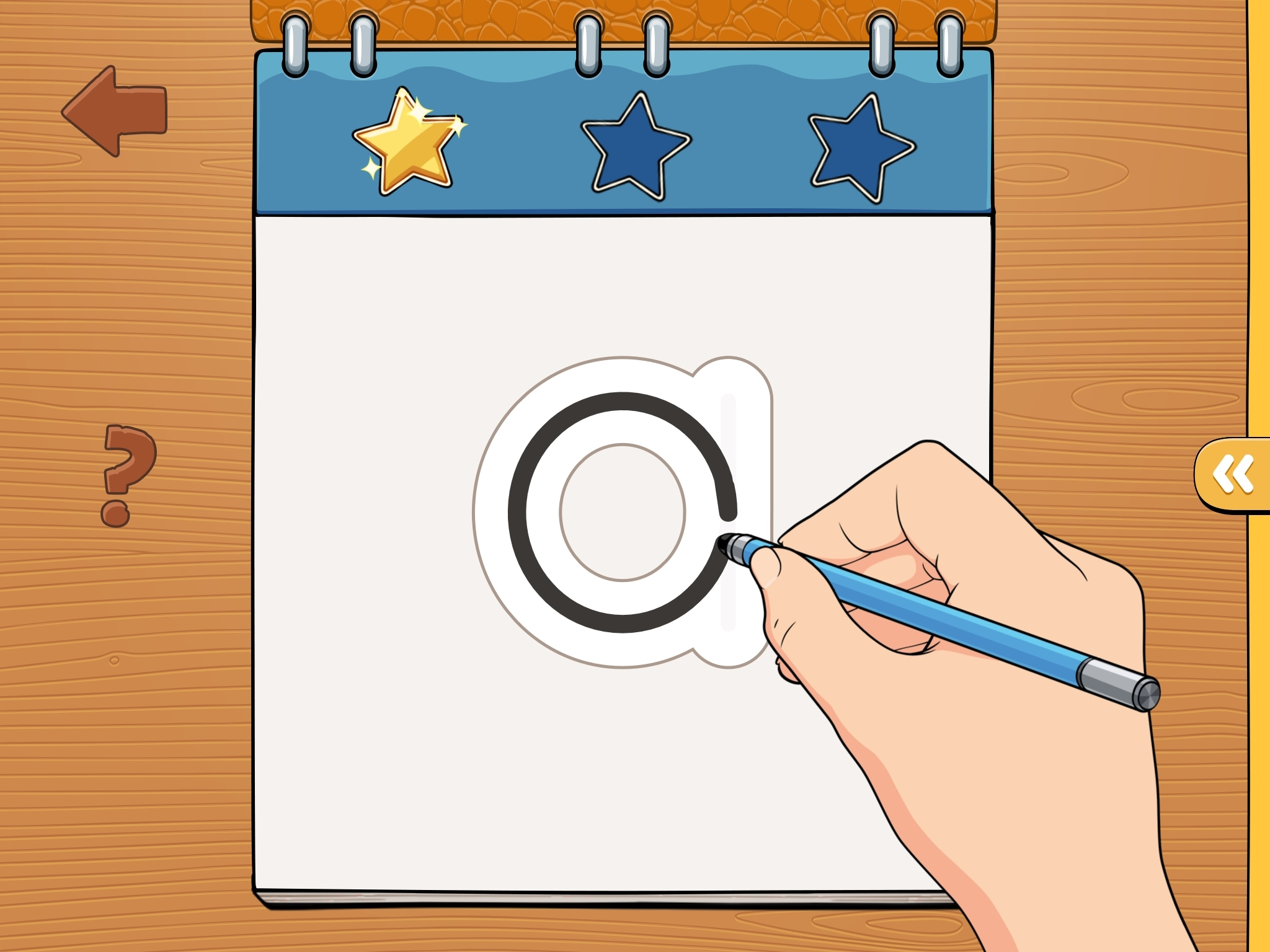 iTrace for letter tracing on iPad
