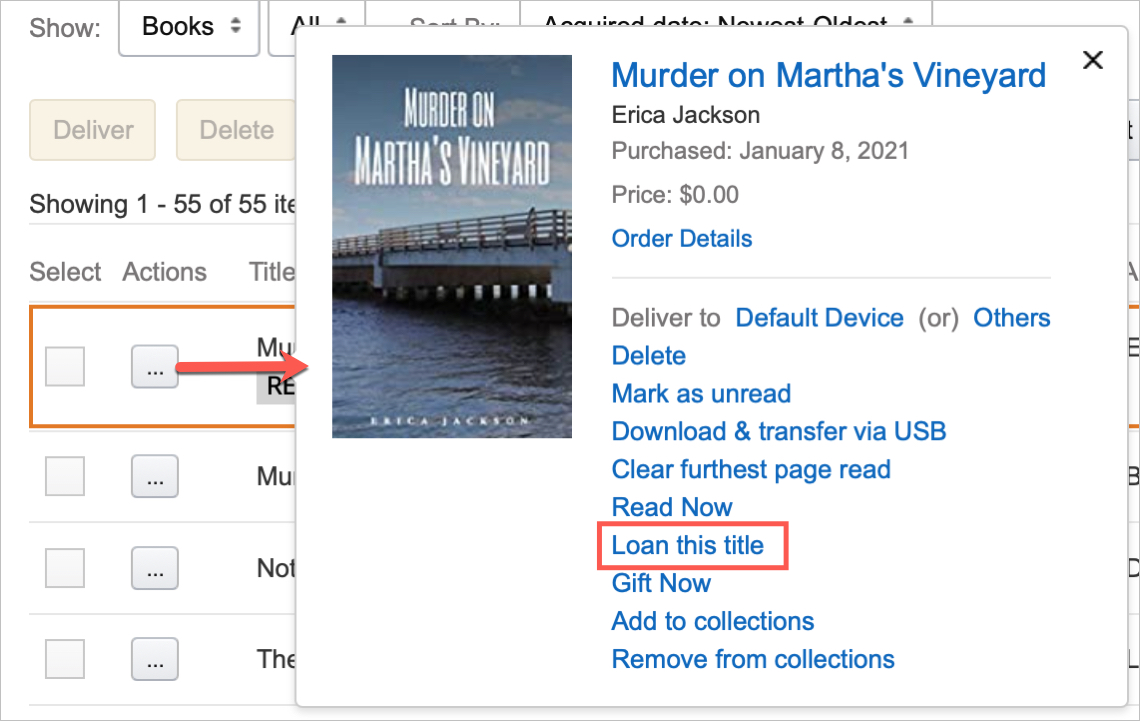 Amazon Kindle Loan This Title