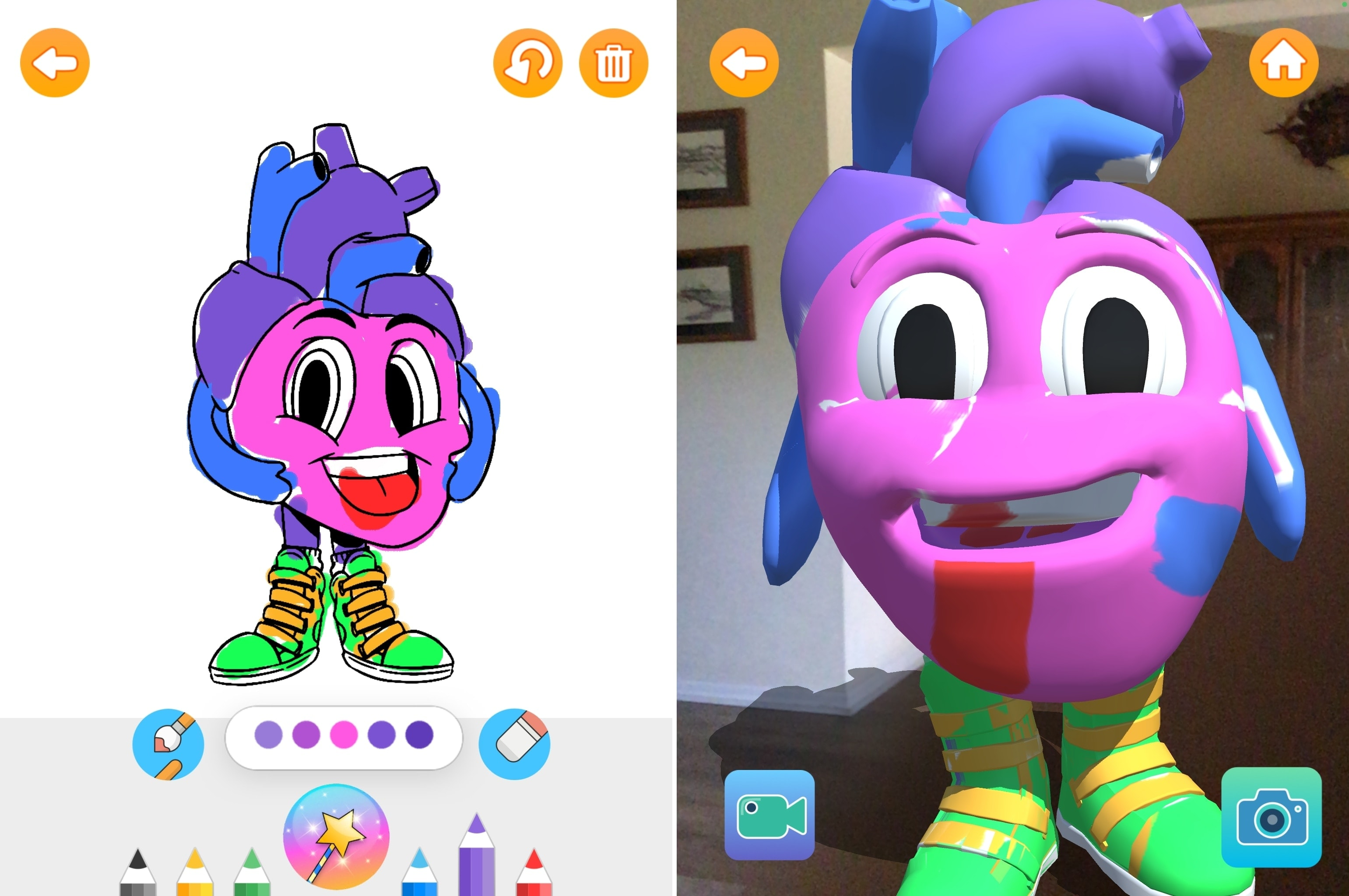 Color Quest AR app for kids on iPad