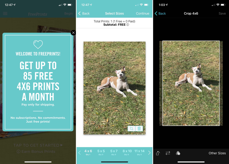 FreePrints on iPhone