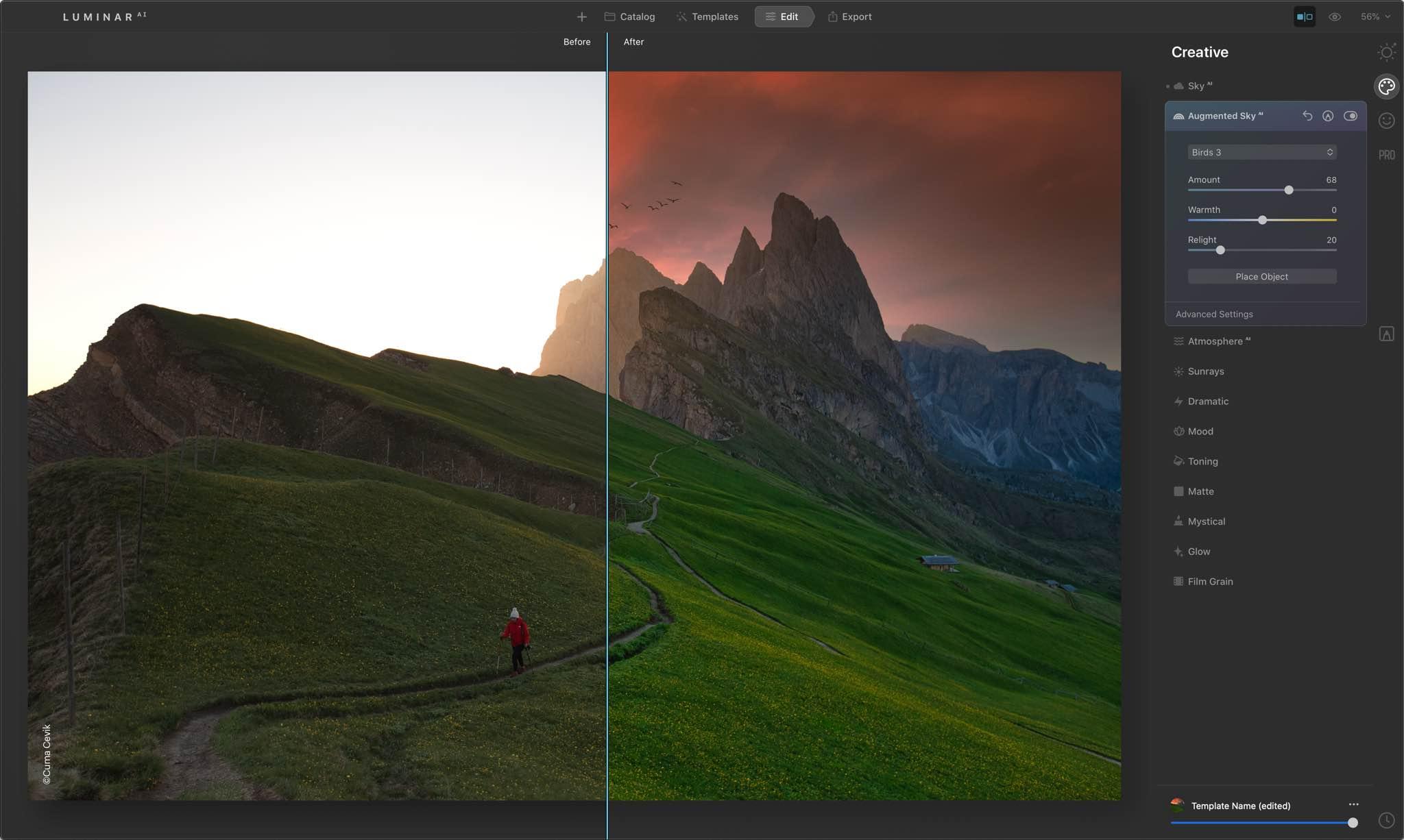 edit landscape Luminar