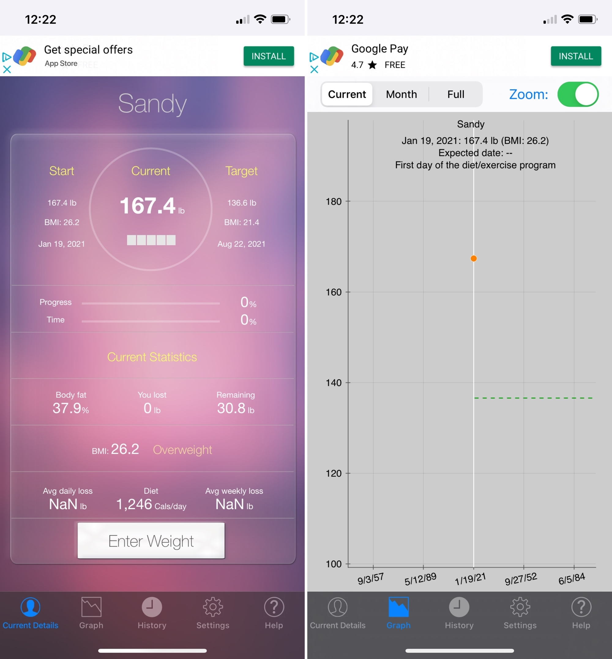 Monitor Your Weight on iPhone