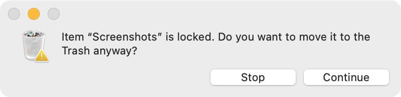 No Move Locked Trash on Mac