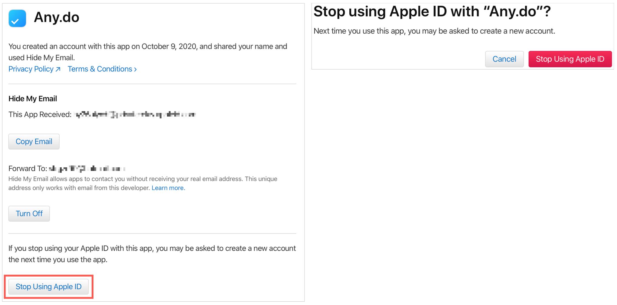 Stop Apps Using Apple ID Online