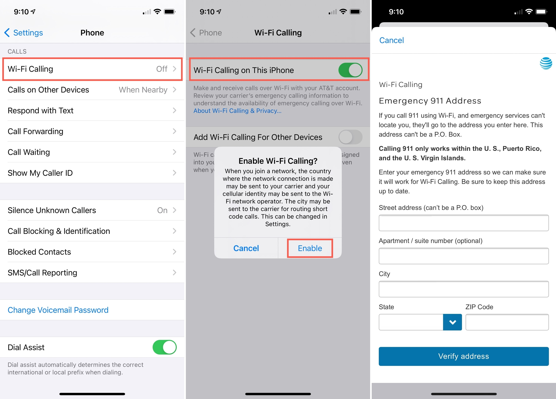 Turn on Wi-Fi Calling on iPhone