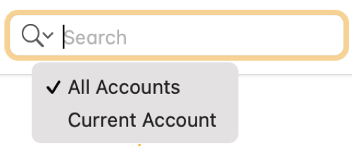 Use Search for All Accounts in Notes