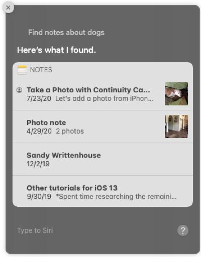 Use Siri to Search Notes