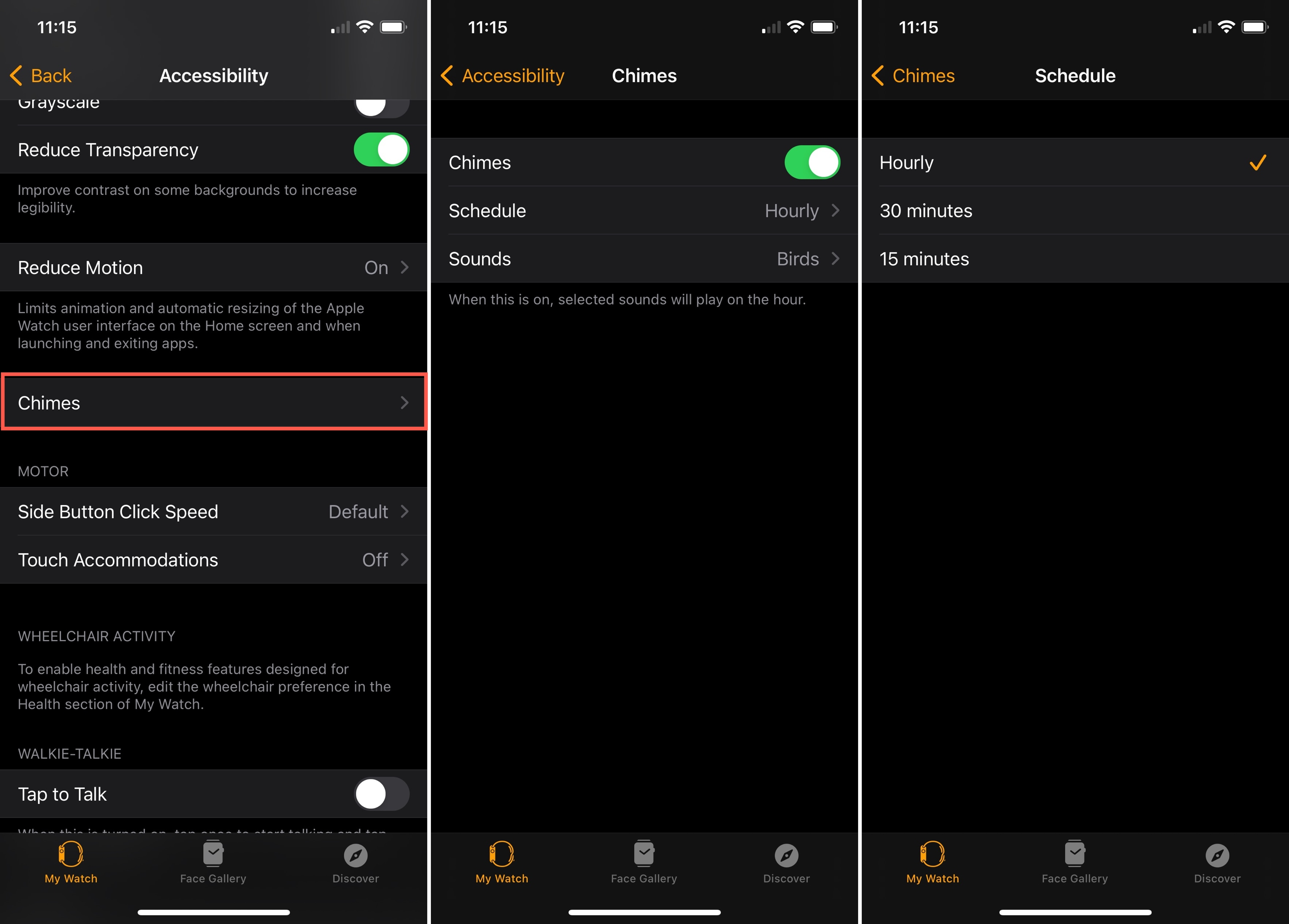 Watch Accessibility Chimes On