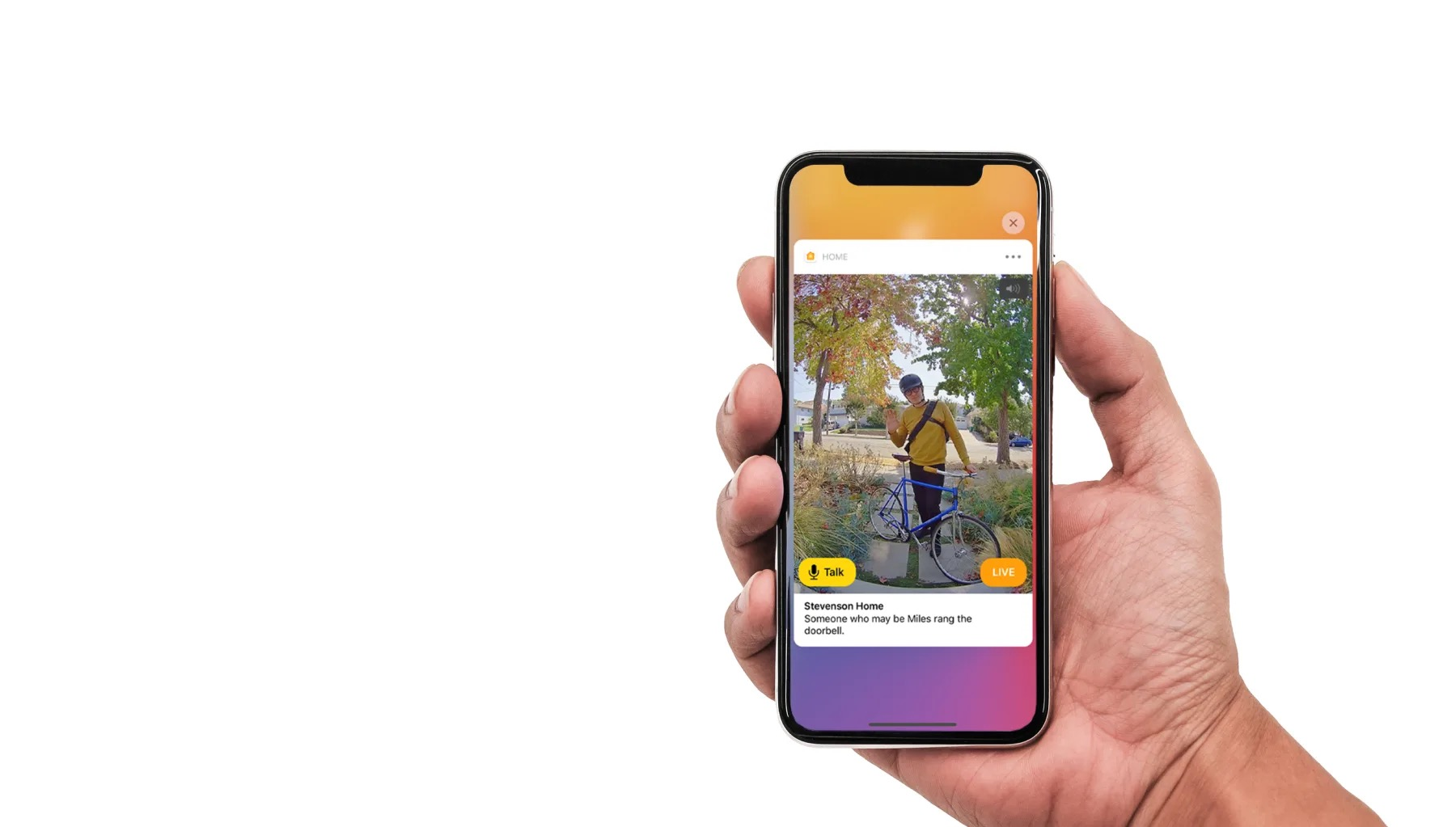 Home app notification