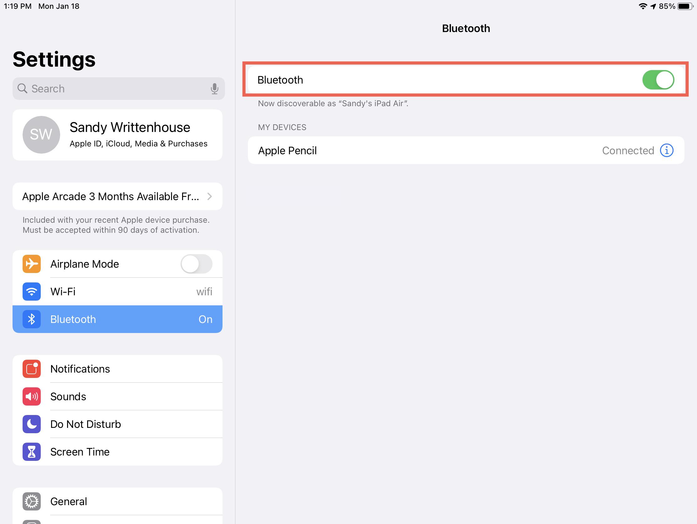 iPad Bluetooth Enabled