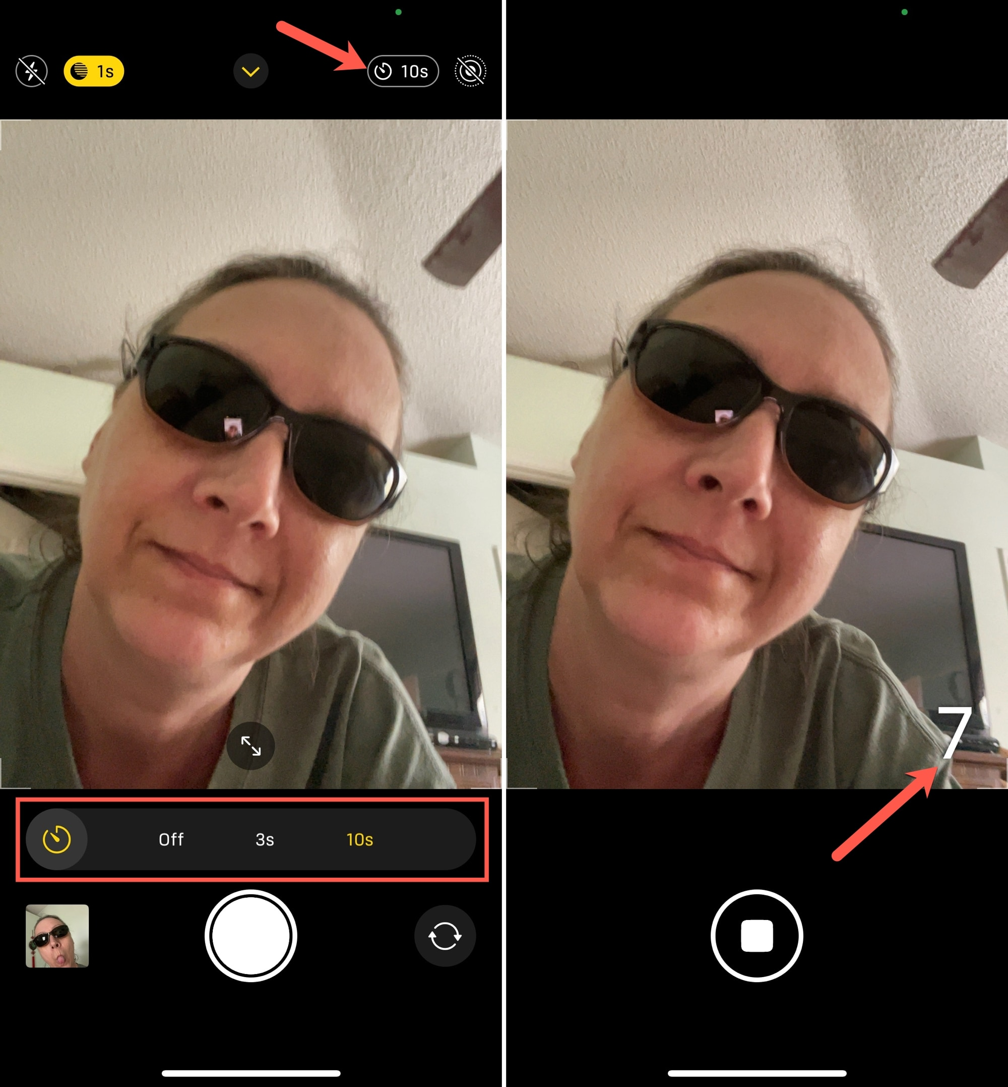 iPhone Selfie Timer