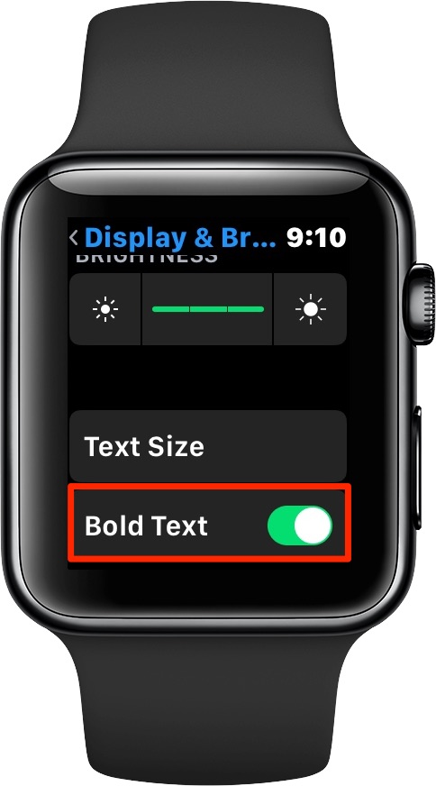 Setting bold text on Apple Watch