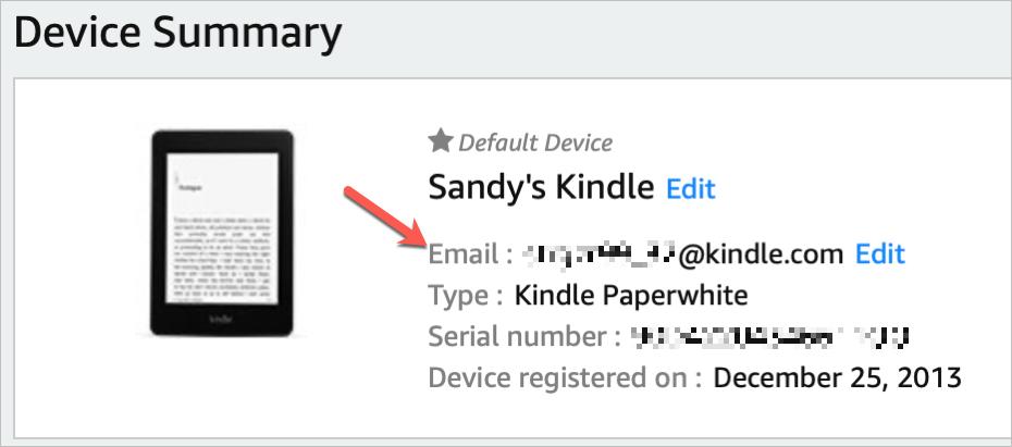 Amazon Kindle Email Address