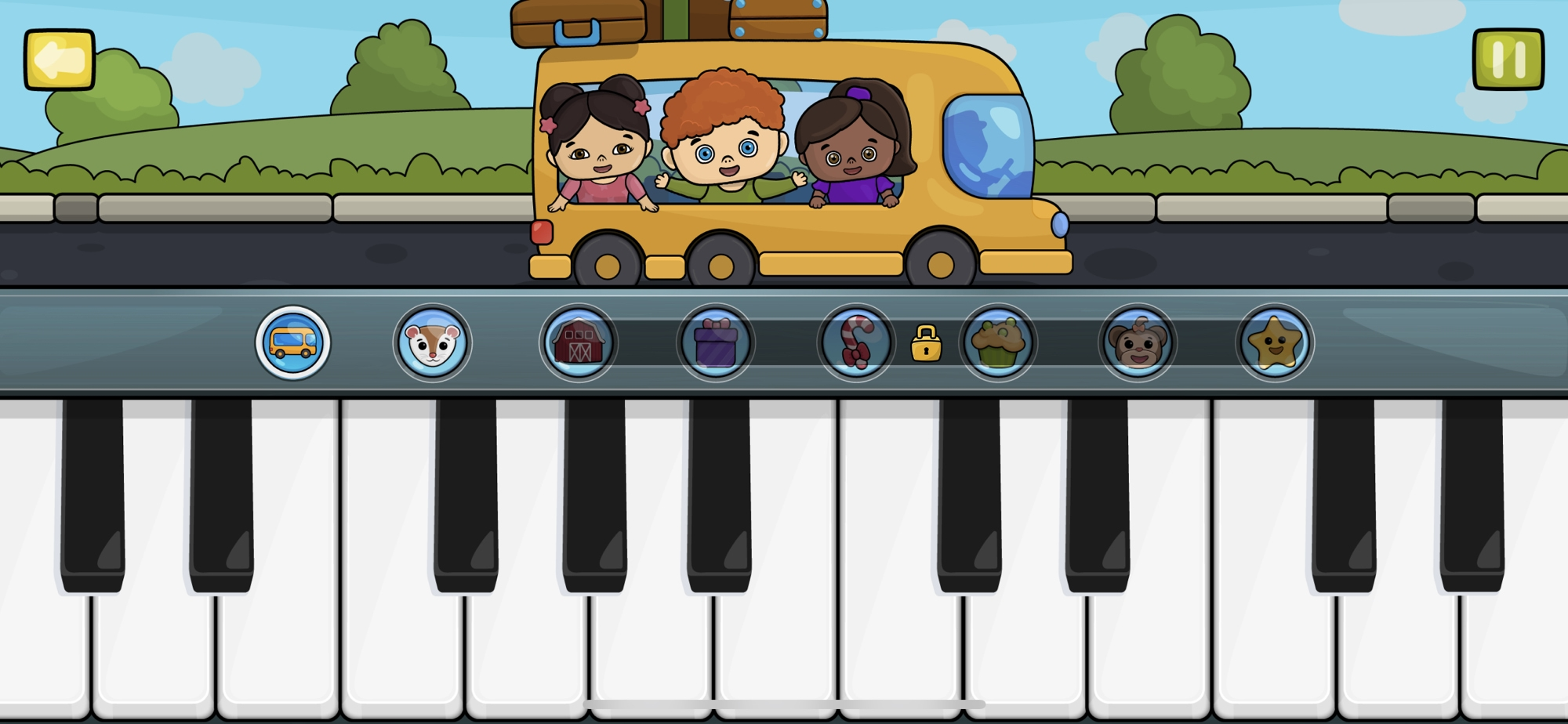 Baby Piano Kids Music on iPhone