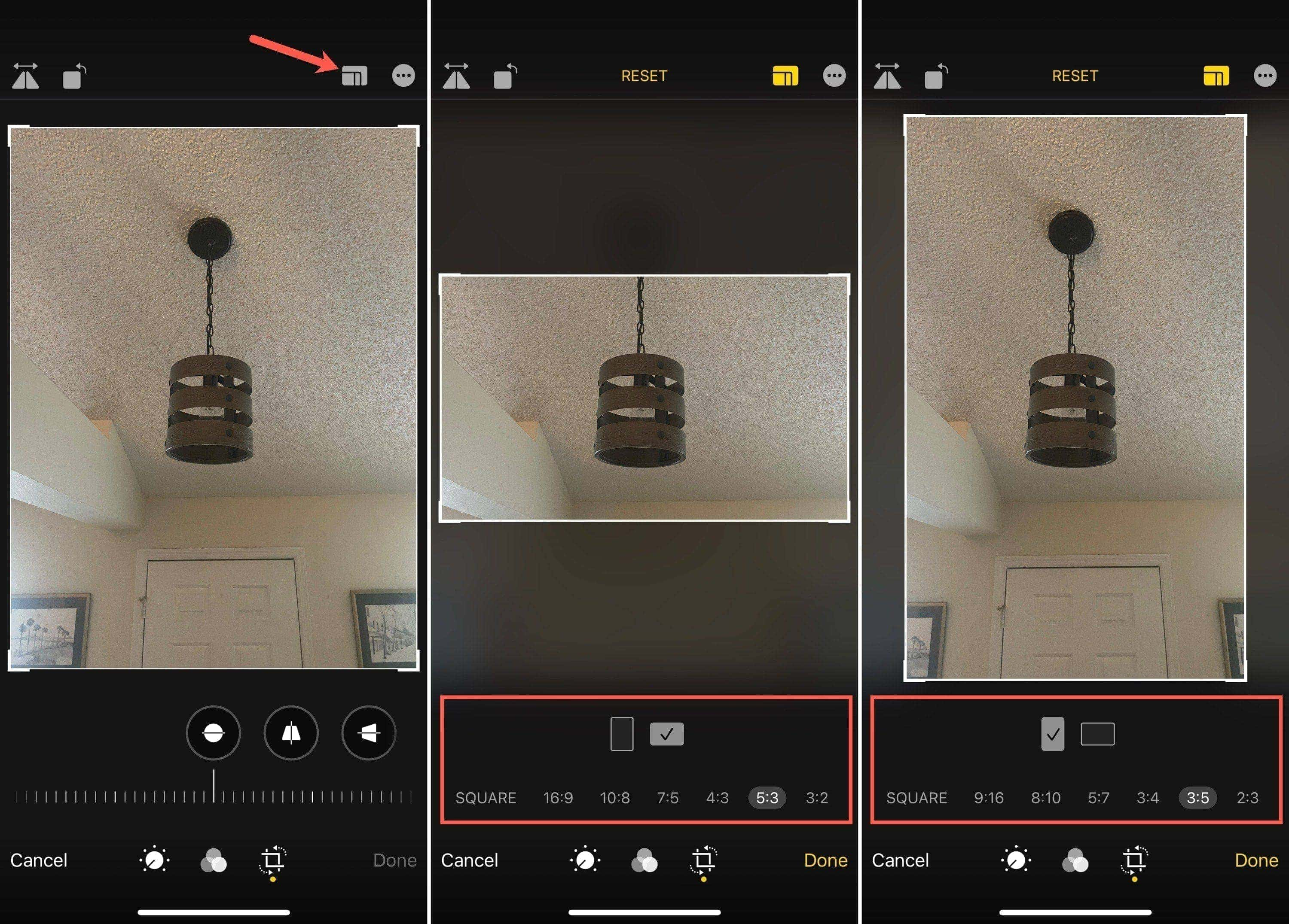 Crop a Photo on iPhone with Preset Ratios