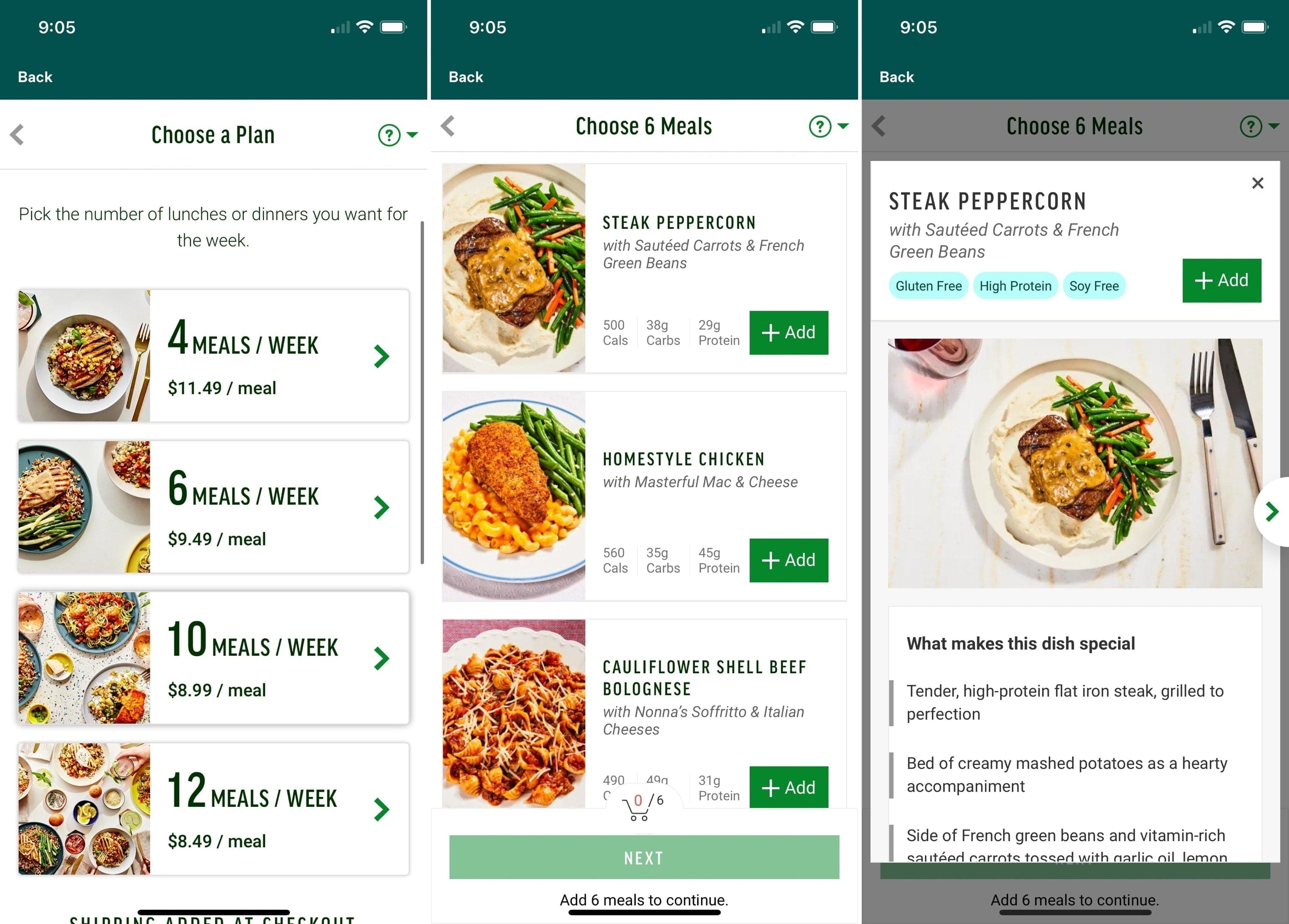 Freshly Meal Delivery on iPhone