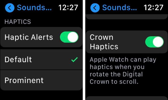 Haptic Alerts Default on Apple Watch